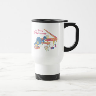 Aristocats at the Piano Travel Mug