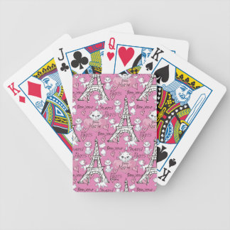 Aristocats | Marie Paris Pattern Bicycle Playing Cards