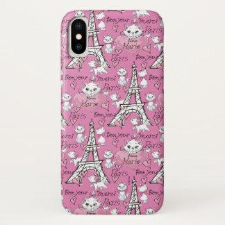 Aristocats | Marie Paris Pattern iPhone X Case