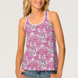 Aristocats | Marie Paris Pattern Tank Top