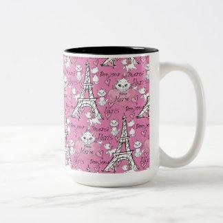Aristocats | Marie Paris Pattern Two-Tone Coffee Mug