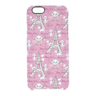 Aristocats | Monogram Marie Paris Pattern Clear iPhone 6/6S Case