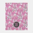 Aristocats | Monogram Marie Paris Pattern Fleece Blanket