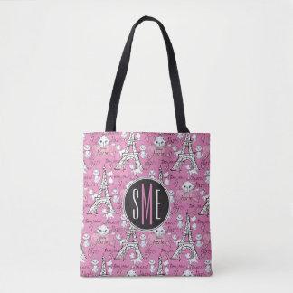 Aristocats | Monogram Marie Paris Pattern Tote Bag