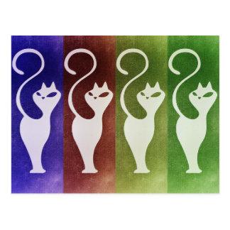 Aristocats White Silhouette Postcard