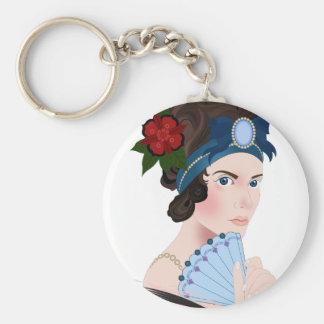 aristocrat basic round button keychain