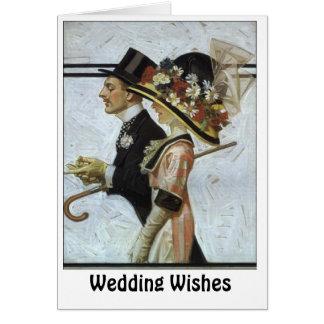 Aristocratic couple card