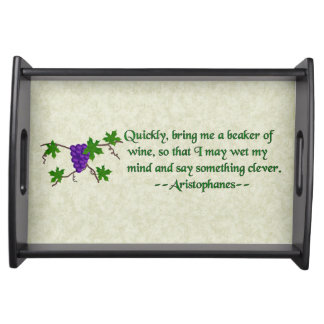 Aristophanes Wine Quote Serving Platters