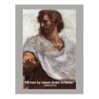 Aristotle 'All men by nature desire to know' Quote Postcard