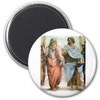 Aristotle and Plato walking at Raphael's School 2 Inch Round Magnet