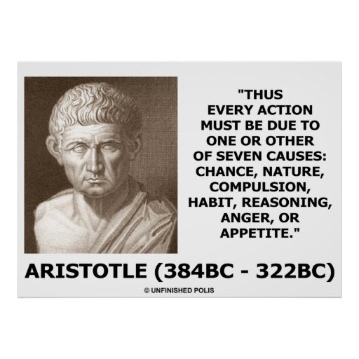 Aristotle Every Action Due To One Or Seven Causes Print