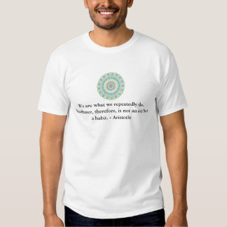 Aristotle Excellence Quotation Tees