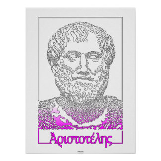 Aristotle. Greek philosopher [015] Poster