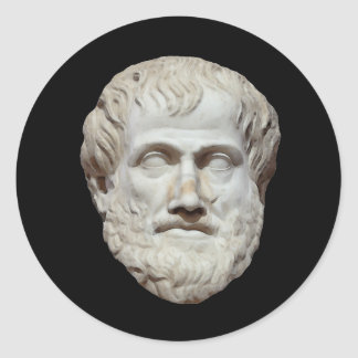 Aristotle Head Sculpture Classic Round Sticker
