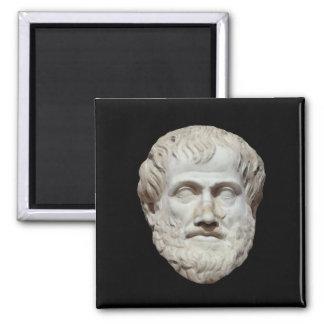 Aristotle Head Sculpture Square Magnet