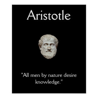 Aristotle - Knowledge Quote Poster