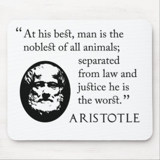 Aristotle mousepad - man, noblest of animals