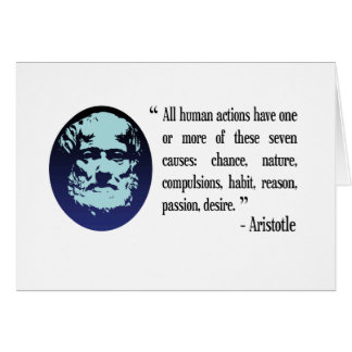 Aristotle philosophical quotations card