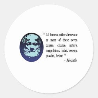 Aristotle philosophical quotations. Stickers