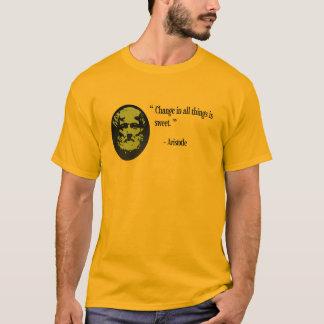 Aristotle philosophy clothing, quotation T-Shirt