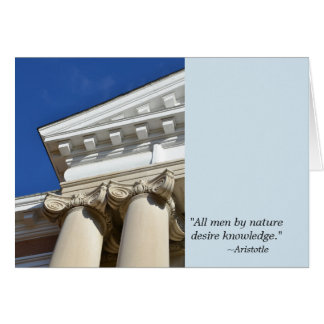 Aristotle Quote and Columns Graduation Card