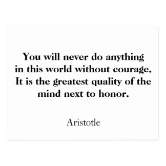 Aristotle quote courage postcard