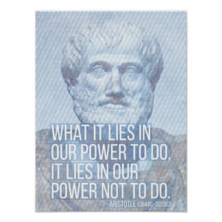 Aristotle Quote on Self-discipline Poster