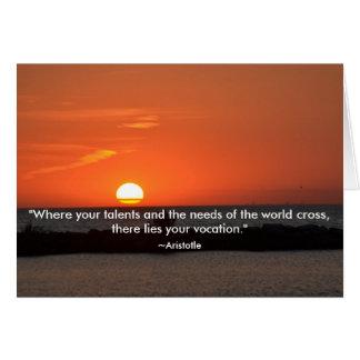 Aristotle Quote Sunset Graduation Card
