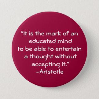 Aristotle-Wisdom Quote 3 Inch Round Button