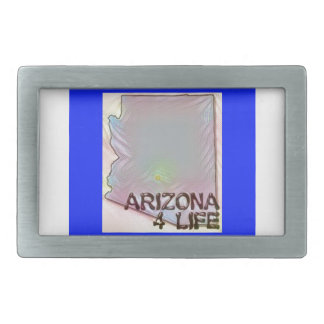 """Arizona 4 Life"" State Map Pride Design Belt Buckle"