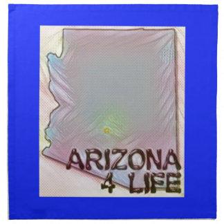 """Arizona 4 Life"" State Map Pride Design Cloth Napkins"