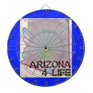 """Arizona 4 Life"" State Map Pride Design Dartboard"