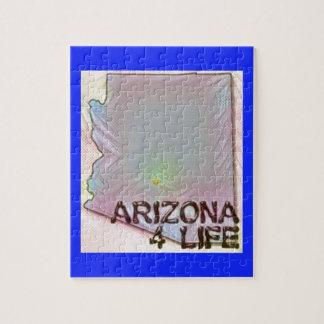 """Arizona 4 Life"" State Map Pride Design Jigsaw Puzzle"