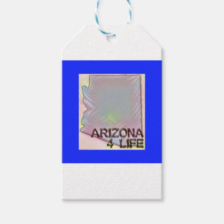 """""""Arizona 4 Life"""" State Map Pride Design Pack Of Gift Tags"""
