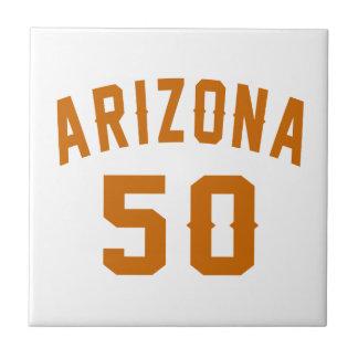 Arizona 50 Birthday Designs Ceramic Tile