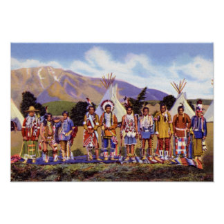 Arizona Apache Indians Camp Poster