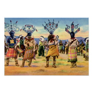 Arizona Apache Indians Devil Dance Poster