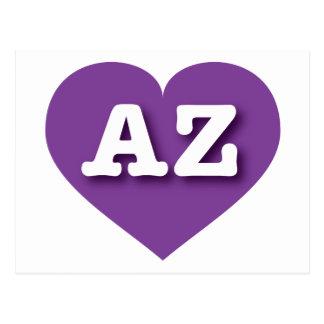 Arizona AZ purple heart Post Card