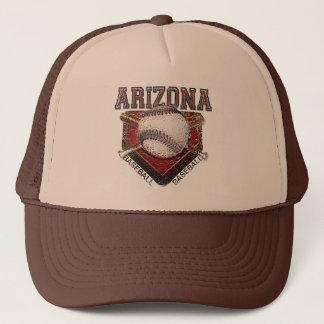 Arizona Baseball Grunge Style Design Trucker Hat