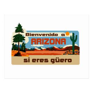 Arizona Bienvenido a Arizona si eres güero Postcard
