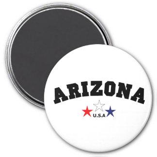 Arizona Block 3 Inch Round Magnet