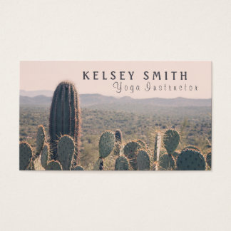 Arizona Cacti - Yoga Instructor | Business Card