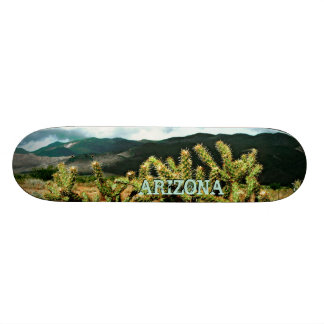 Arizona Cactus and Mountains Photo Skateboard Deck