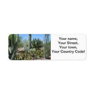 Arizona Cactus Garden Return Address Label