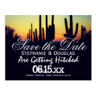 Arizona Cactus Sunset Save the Date Postcards