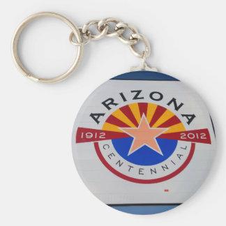 Arizona Centennial Sign Key Chain