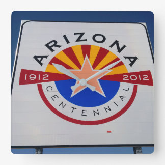 Arizona Centennial Sign Wall Clock