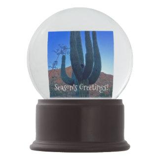 Arizona Christmas Cactus Snow Globe