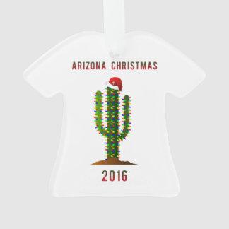 Arizona Christmas Saguaro T-shirt Ornament