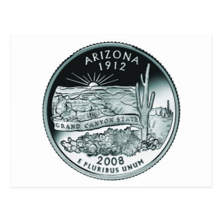 Arizona coin - image postcard